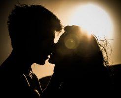 好きだった人とキス